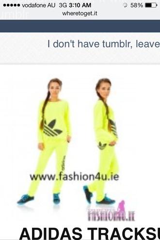 sweater neon adidas tracksuit