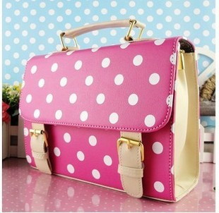 2012 women's bags polka dot cute little gentlewomen handbag cross body lather bag m38-inShoulder Bags from Luggage & Bags on Aliexpress.com