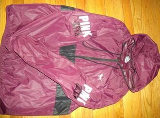 jacket pink victoria's secret pink by victorias secret rain jacket windbreaker