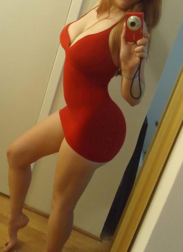 red dress short low cut dress short dress