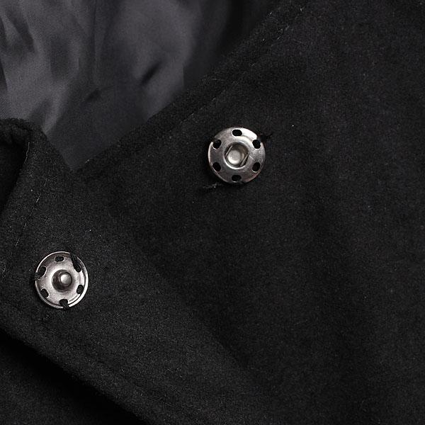 Luxury women's faux fur collar hoodie ponchos trench coat jacket outwear black free shipping!
