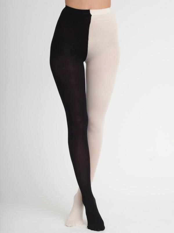 pants leggings black and white two colour