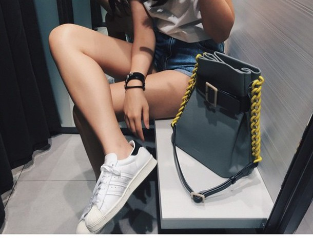 shoes white black adidas