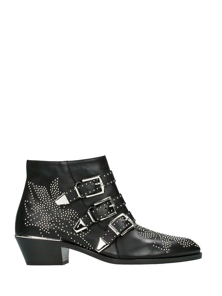 sheepskin ankle boots black shoes