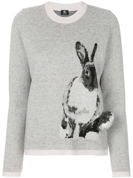 PS By Paul Smith sweater bunny women mohair print grey
