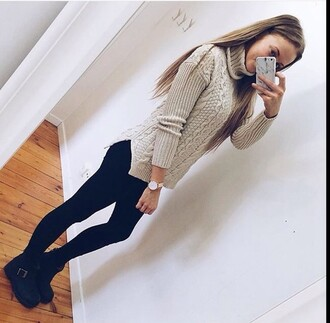 sweater grey grey sweater fashion clothes instagram pinterest knitwear knitted sweater fall outfits fall sweater autumn/winter trendy heavy knit jumper