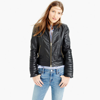 37109eb03 Collection standing-collar leather jacket