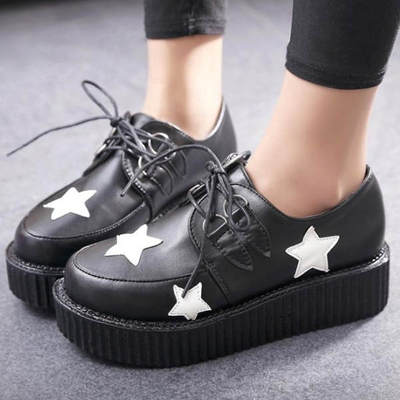 Black Punk Star Creepers · Sweet Stuff! · Online Store Powered by Storenvy