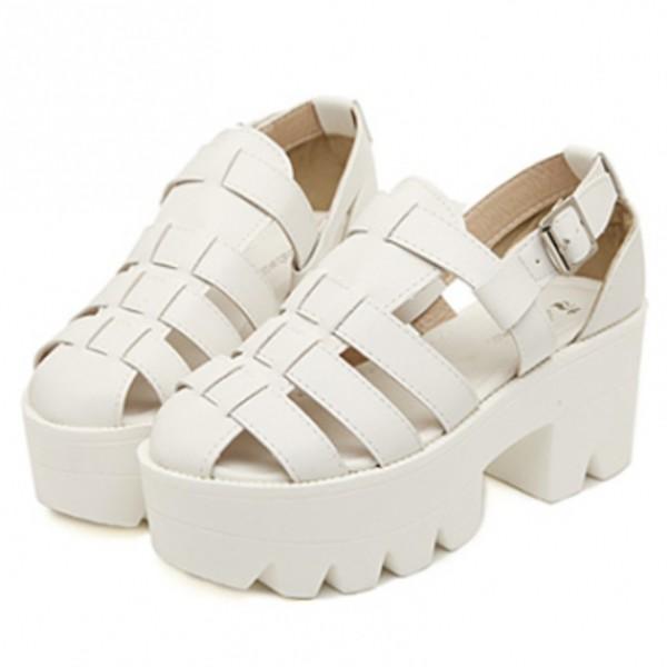 shoes heels chunky sole chunky heels