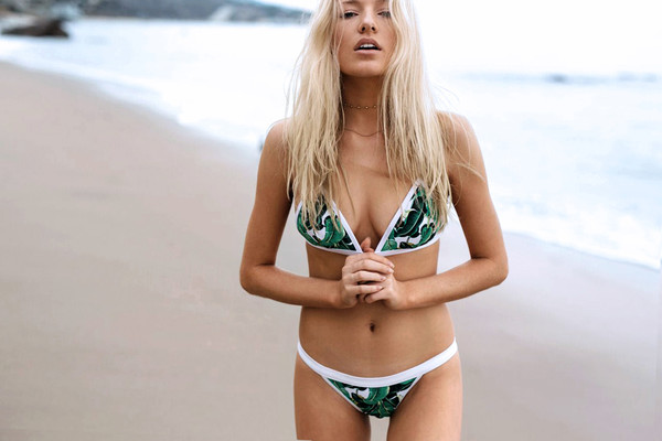 swimwear tropical bikini bikini top tropical bikini green mosmann