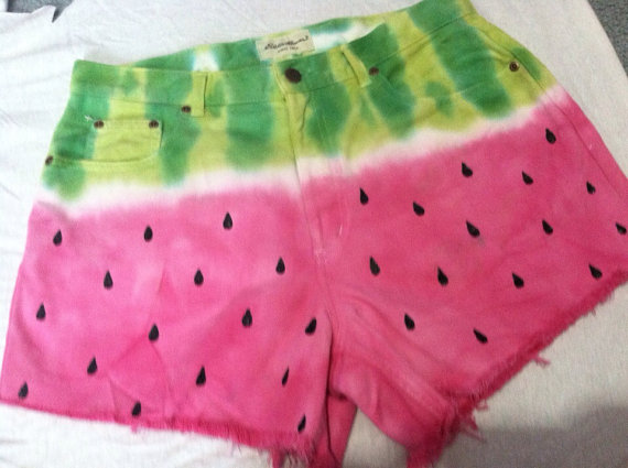 Custom watermelon denim shorts all sizes