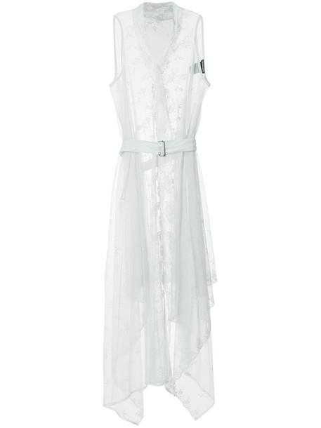 ANN DEMEULEMEESTER dress wrap dress women lace cotton grey
