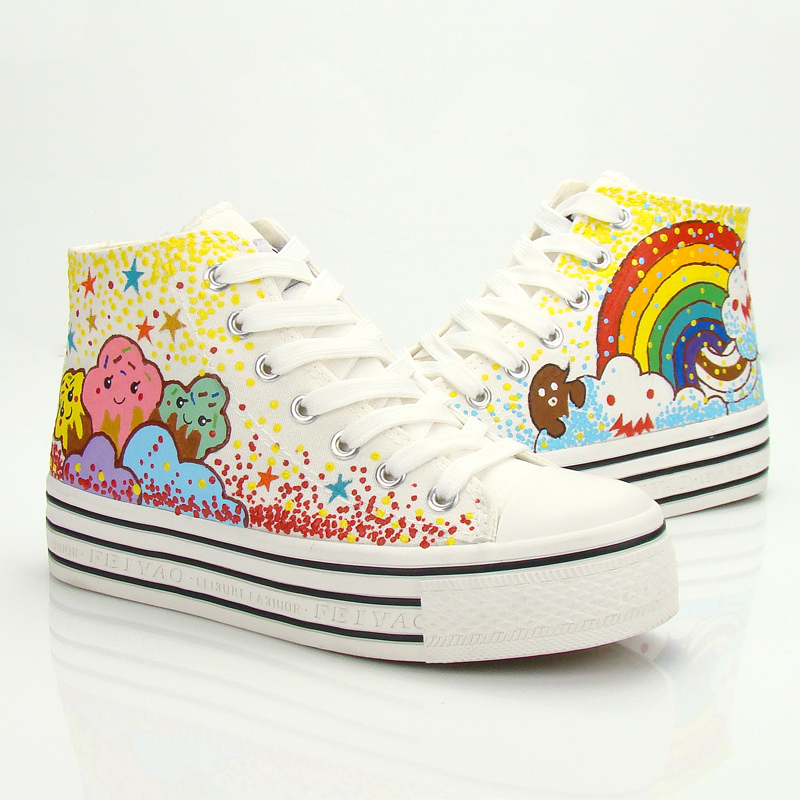 Sweet stars rainbow shoes from cute harajuku {street fashion} on storenvy