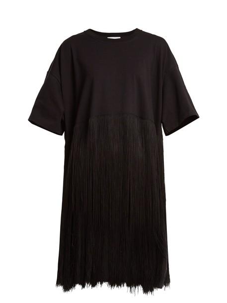 Raey dress jersey dress cotton black