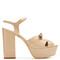 Farrah leather platform sandals