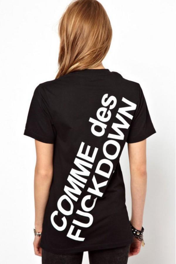t-shirt kcloth t-shirt fuckdown tee kcloth tee black t-shirt white tee
