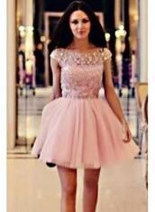 dress,homecoming dress,pink homecoming dress,short homecoming dress,beaded homecoming dress