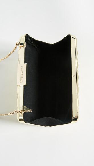 cross metallic love bag gold