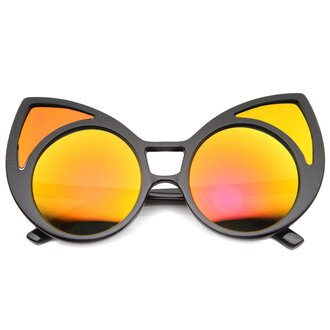 sunglasses black black sunglasses mirror cat eye retro mirrored sunglasses retro sunglasses