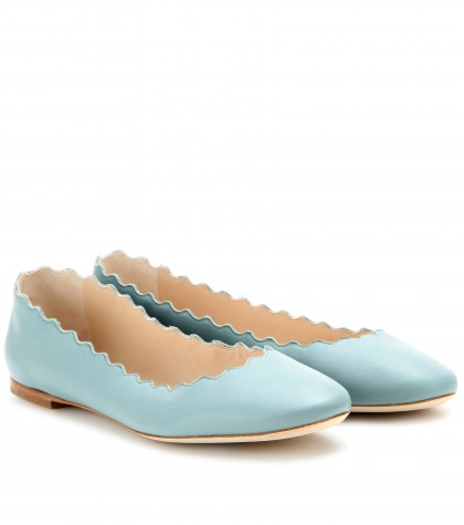 mytheresa.com -  Lauren leather ballerinas - Luxury Fashion for Women / Designer clothing, shoes, bags