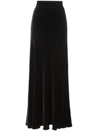 skirt long skirt long high black