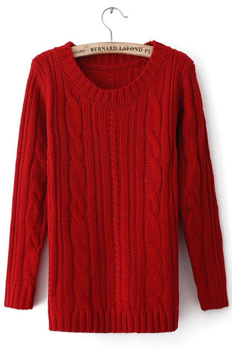 Thick Lines Hemp Flowers Elbow Patched Pullover Sweater,Cheap in Wendybox.com