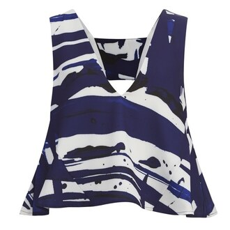top blue and white marble tank top blue top summer top