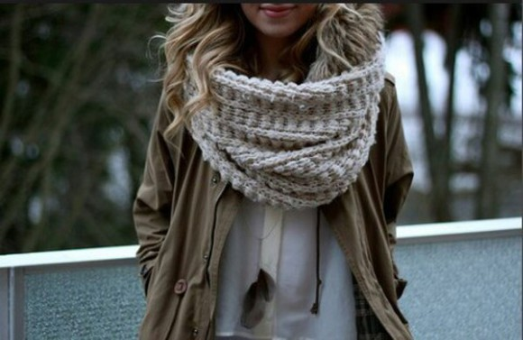 white blouse cardigan scarf coat winter outfits