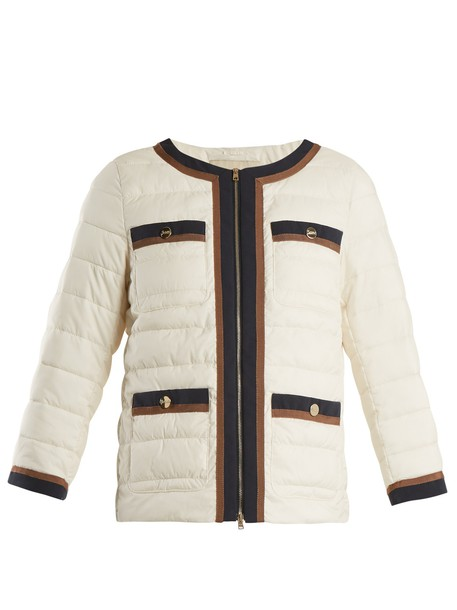 Herno jacket high quilted white