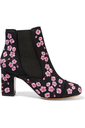 embroidered boots ankle boots pink shoes