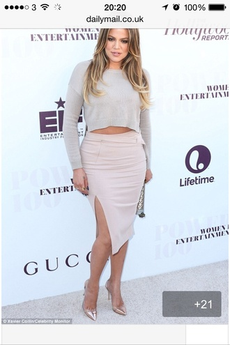 skirt khloe kardashian midi skirt pink