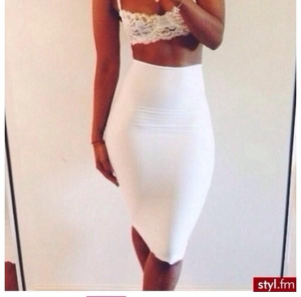 skirt white cute white skirt white skirt cute skirt pencil skirt white pencil skirt long skirt maxi skirt tank top