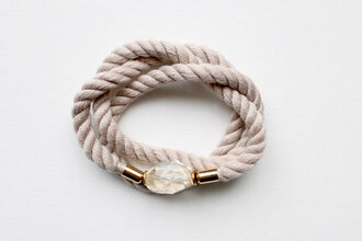 bracelets rope gold jewels crystal quartz wrap bracelet twist