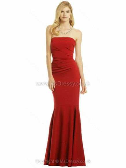 dress evening dress red