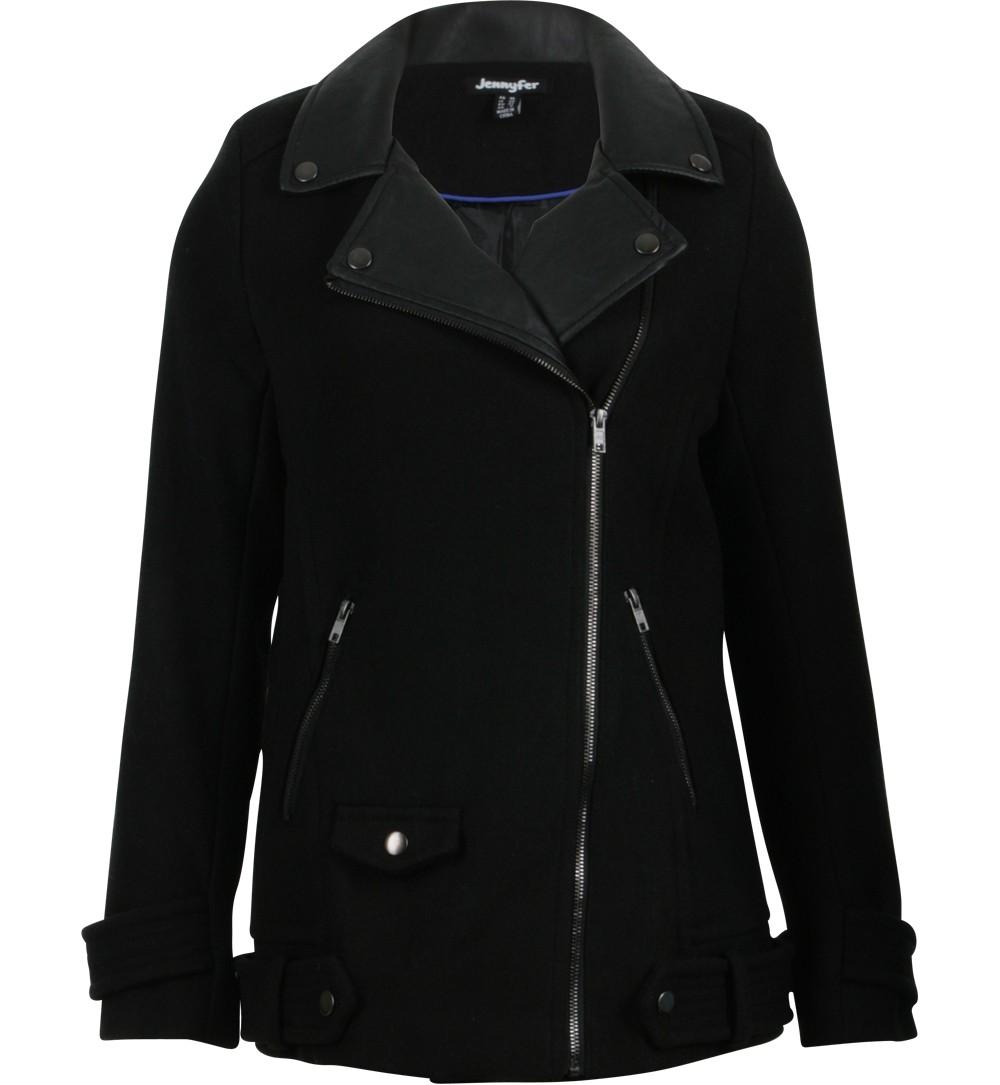manteau col perfecto noir - vestes et manteaux Jennyfer