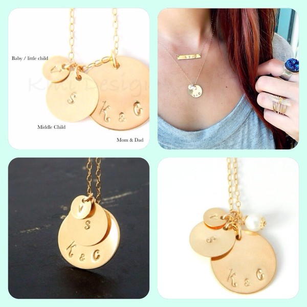 jewels jewelry gold jewelry hand jewelry hand stamped handmade necklace family love more fashion