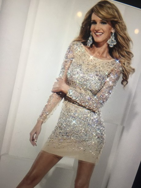 dress nude embellished party dress
