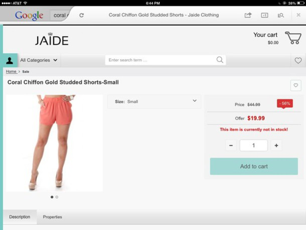 shorts chiffon coral shorts