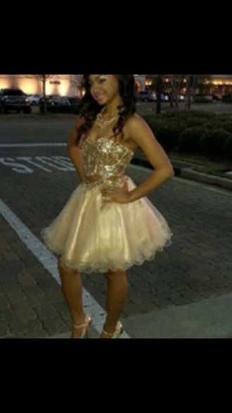 prom dress gold sequins short dress 2014 prom dresses dress two-piece two-piece prom high heels glitter prom gown platform shoes black heels two-piece twopiecedress shortdress prom shoes