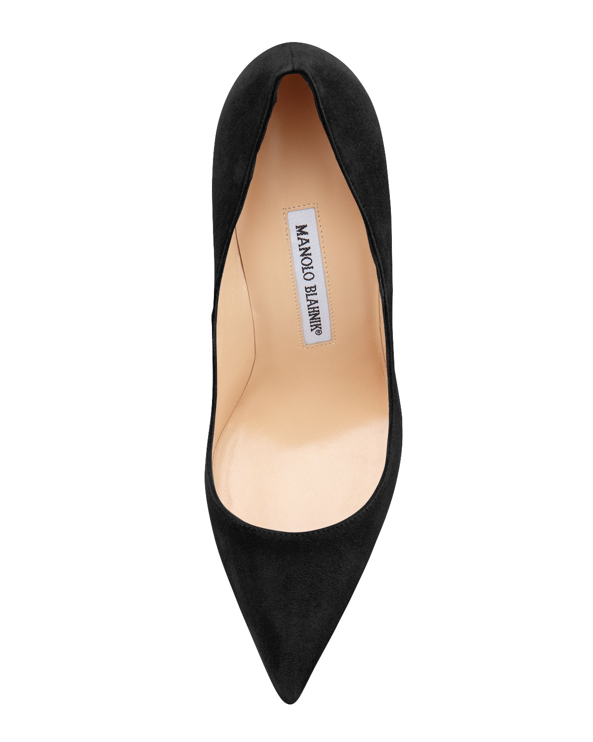 BB Suede 105mm Pump, Black (Made to Order)
