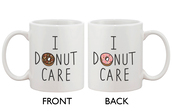 home accessory,mug,cute mugs,i donut care,gift ideas,gifts for her,gift for friend,white mug,mug cup white