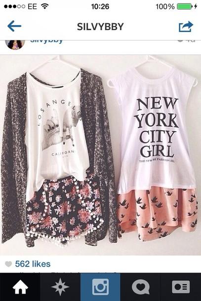 shorts skirt flower skirt tank top jacket shirt blouse top both shirt sweater la new york city flowered shorts mini shorts