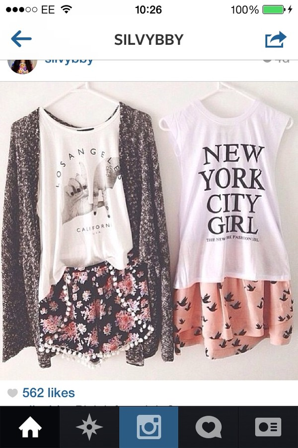 shorts skirt flower skirt tank top jacket shirt blouse top both shirt sweater la new york city