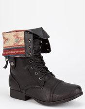 Diva lounge jetta womens military boots