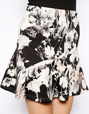 Warehouse | Warehouse Floral Print Skirt at ASOS