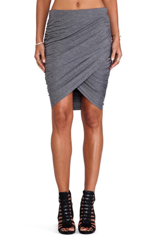 skirt grey grey skirt fashion wrapped skirt draped trendy shirt slim skirt casual skirt asymmetrical bodycon skirt grey slim skirt asymmetrical skirt streetstyle