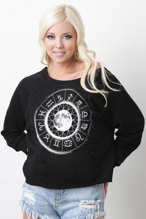 Open zodiac sweater