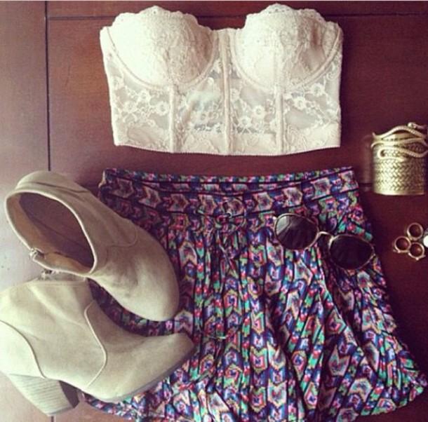 skirt pattern coloured