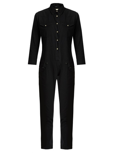 R13 jumpsuit cotton black
