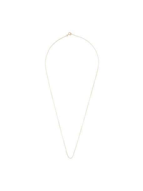 AURELIE BIDERMANN chain necklace women necklace gold yellow grey metallic jewels
